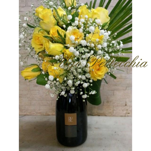 Regalo: Bouquet con spumante